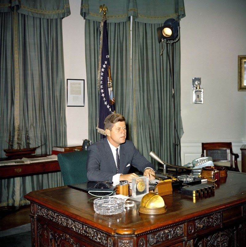 kennedy oval office. President Kennedy Prepares To Address The Nation In November Oval Office G