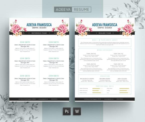 vintage resume template fransisca  creativework247