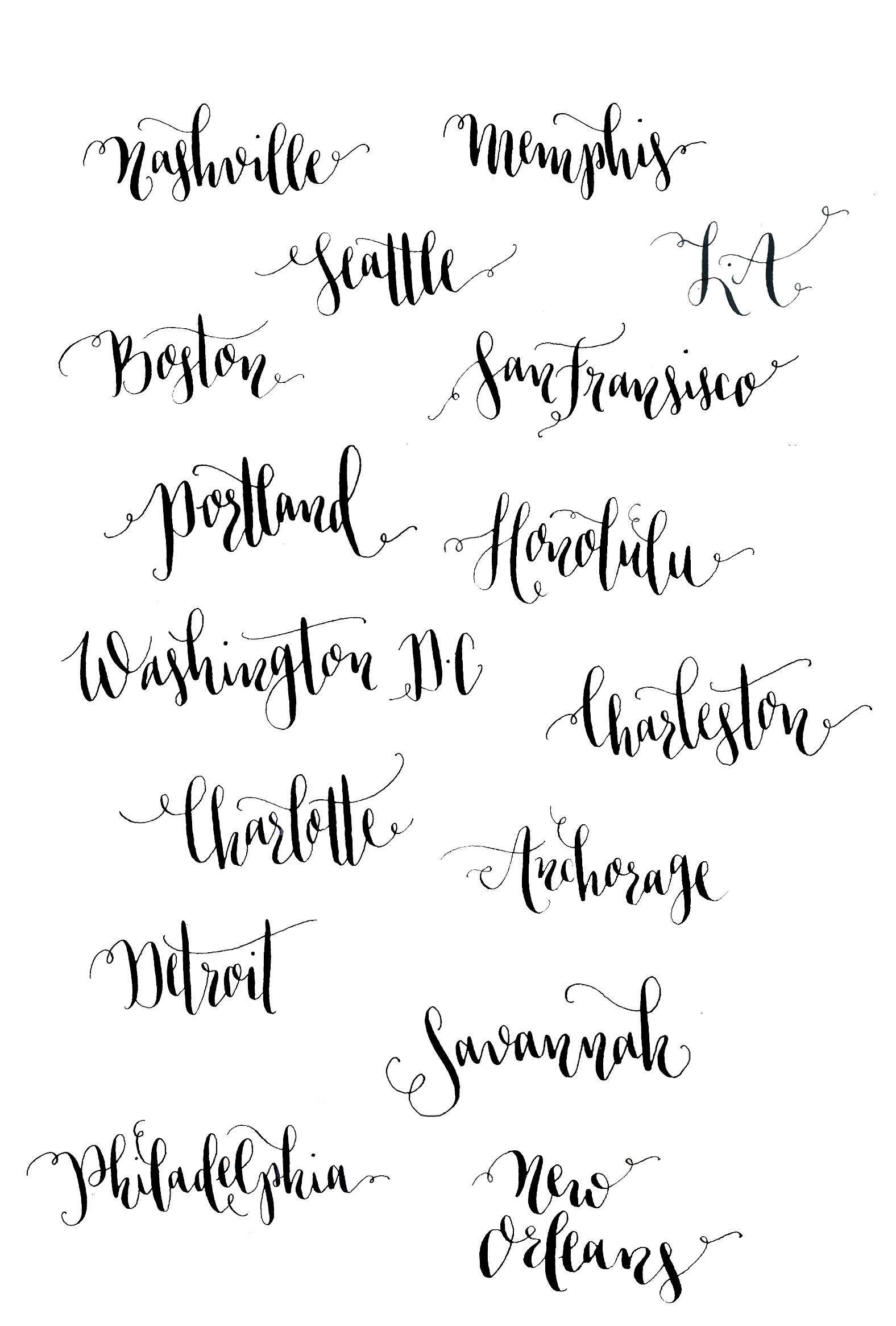 Introduction To The Art Of Modern Calligraphy Calligraphy I