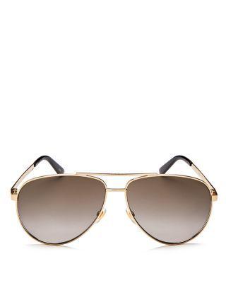 ddef04e77ae GUCCI Retro Signature Stripe Mirrored Brow Bar Aviator Sunglasses ...