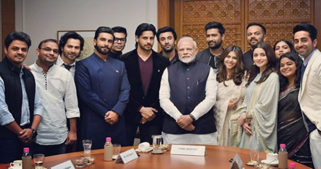 Bollywood 'squad' meets Modi to discuss 'nation building