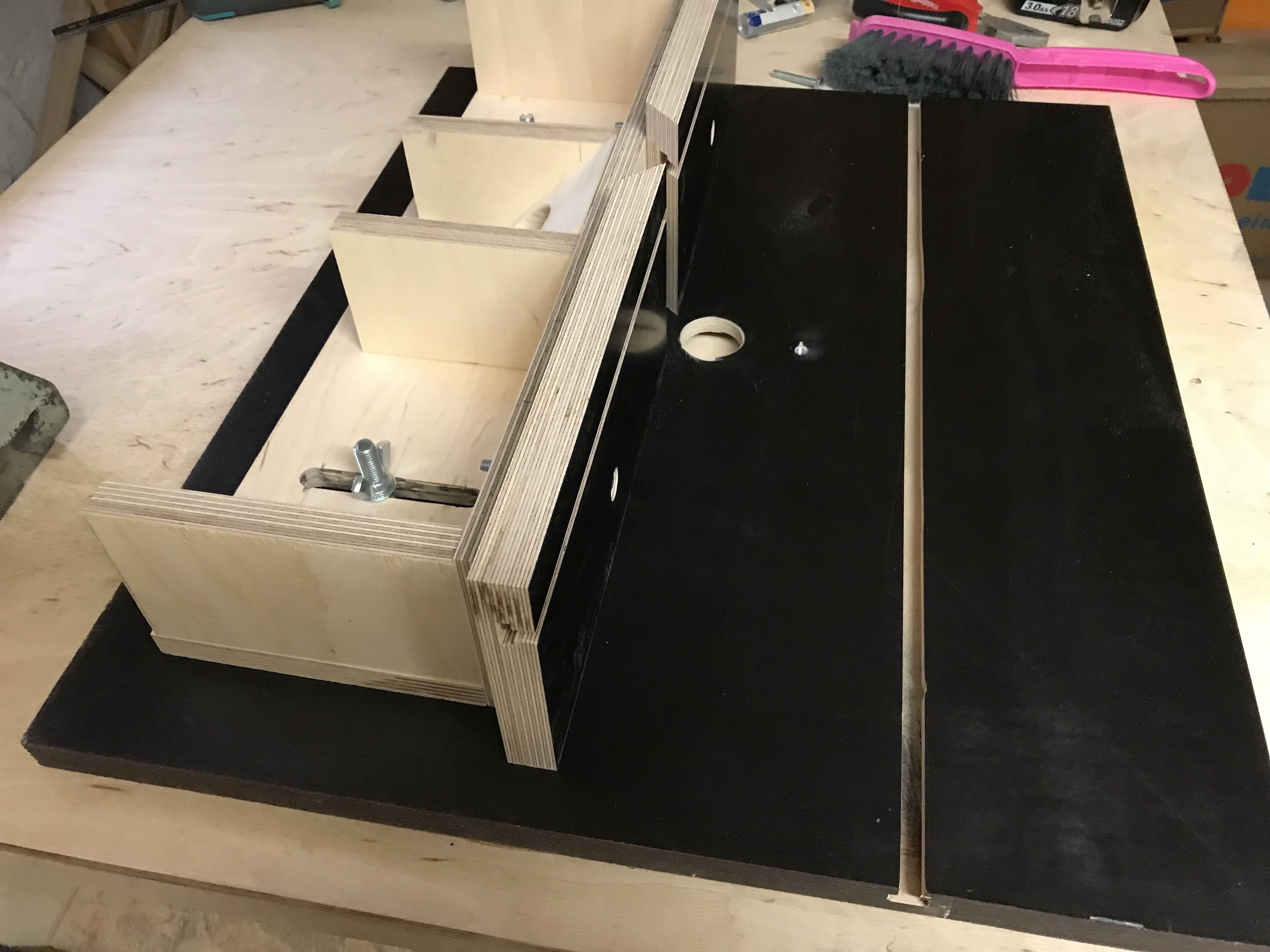 selbstgebauter frästisch - diy milling table. 🛠material