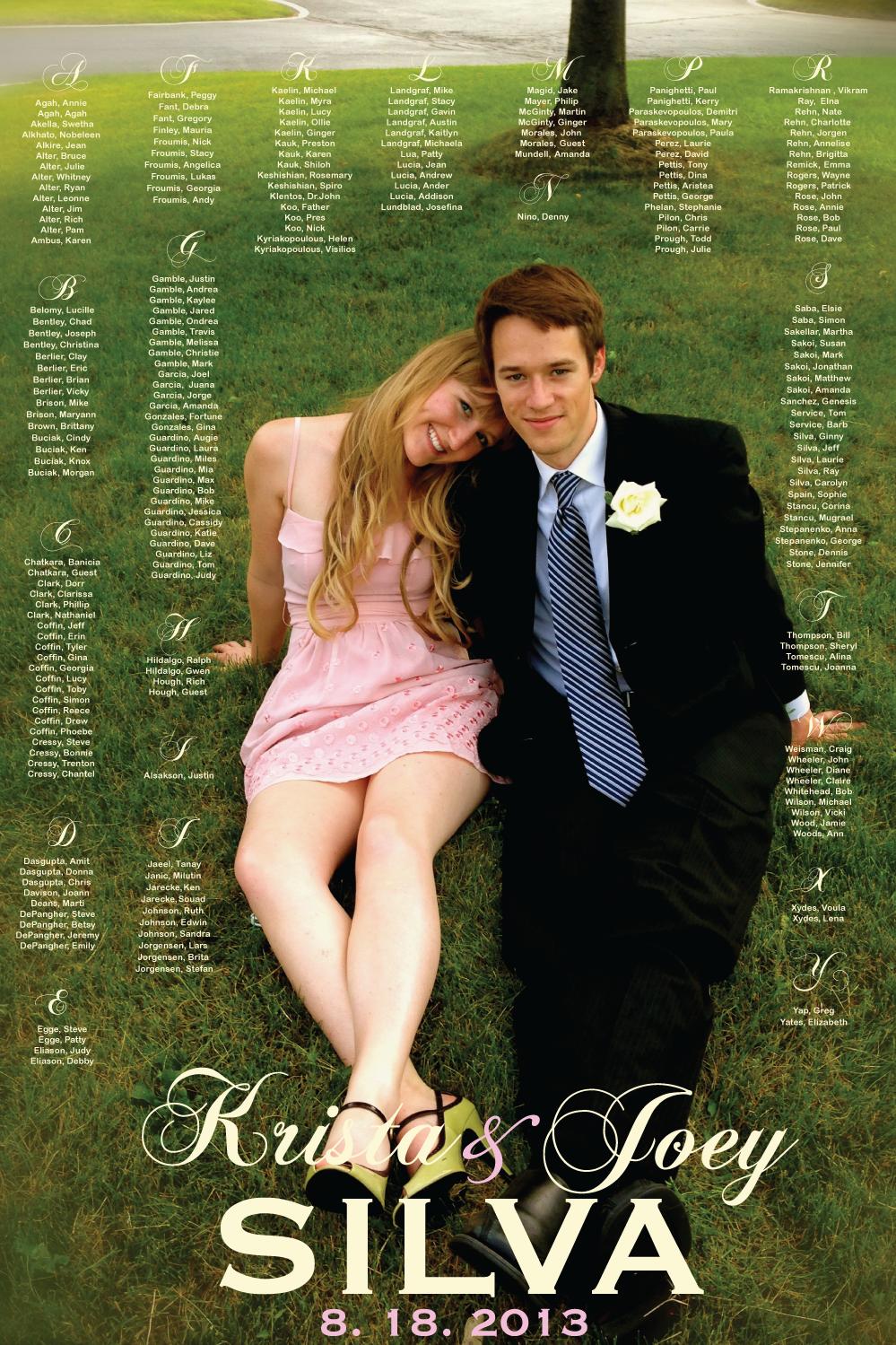 Wedding seating chart for wedding reception printable diy
