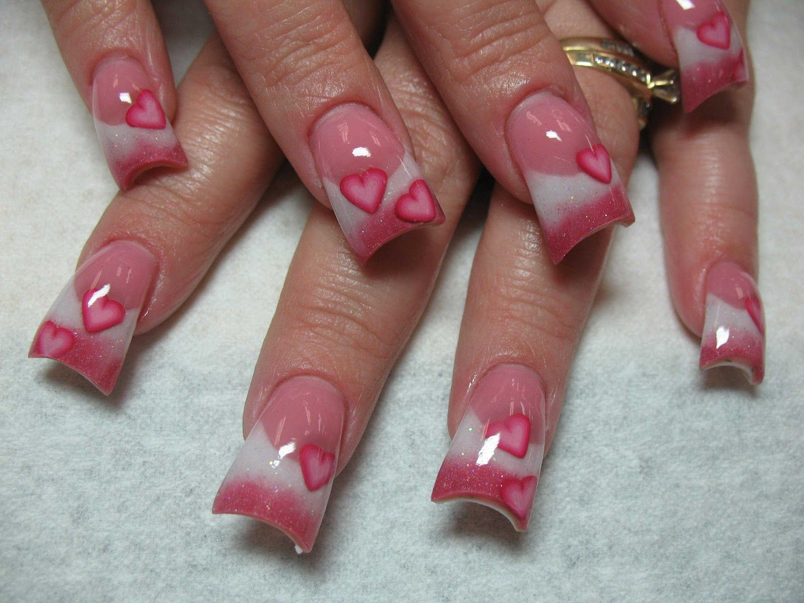 Nail Designs | Valentineu0027s Day Nail Designs Ideas  How To Decorate Nails |  I Love