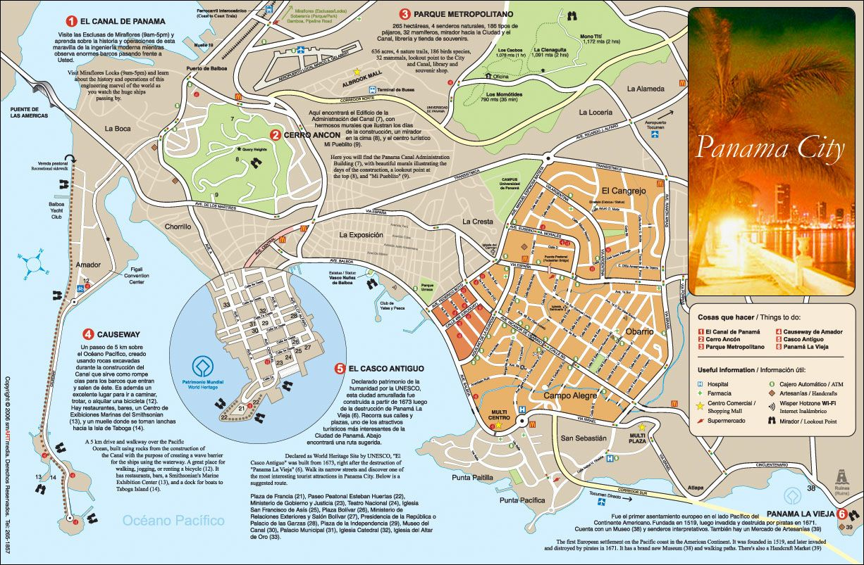 1000 images about Cidade do Panam Panam Panama City Panama – Tourist Attractions Map In Panama