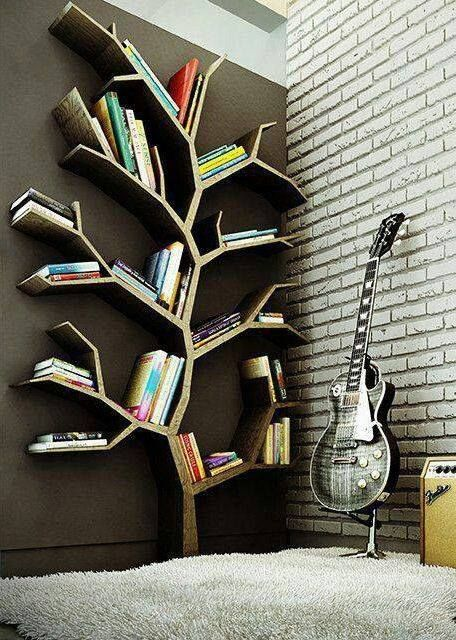 Funky Bookshelves funky tree book shelf, decorate and make efficient a small space