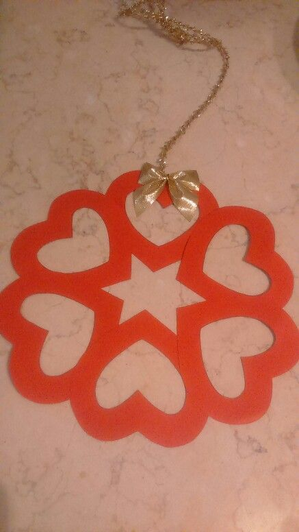 Photo of Christmas decorations for the class / garland to hang on the Primav Section door …