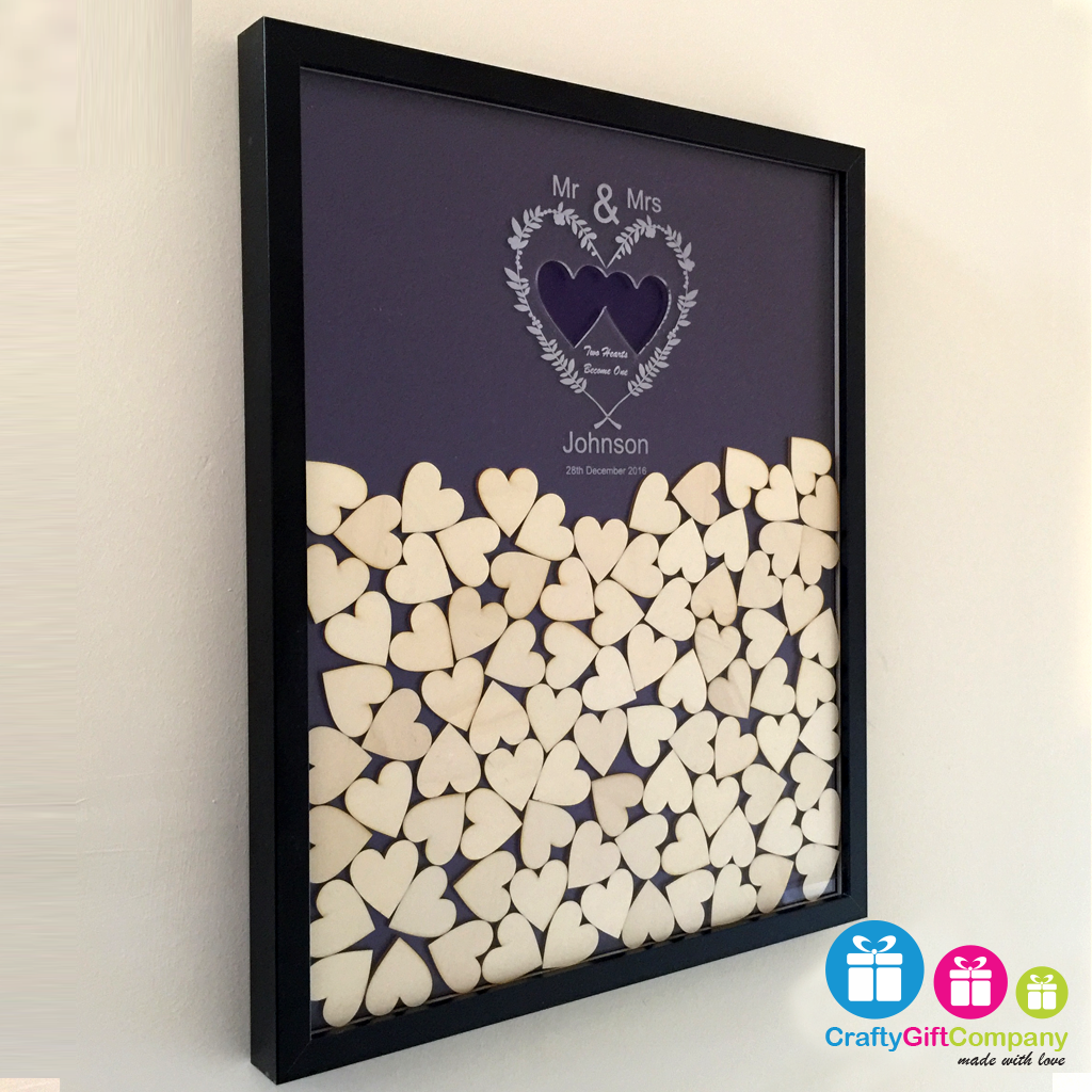 wedding heart drop box guest book including frame and hearts, Einladungen