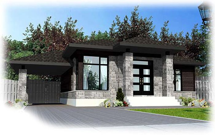 Plan 90236pd One Level Contemporary Home Plan Contemporary House Plans Modern Bungalow Modern Bungalow House