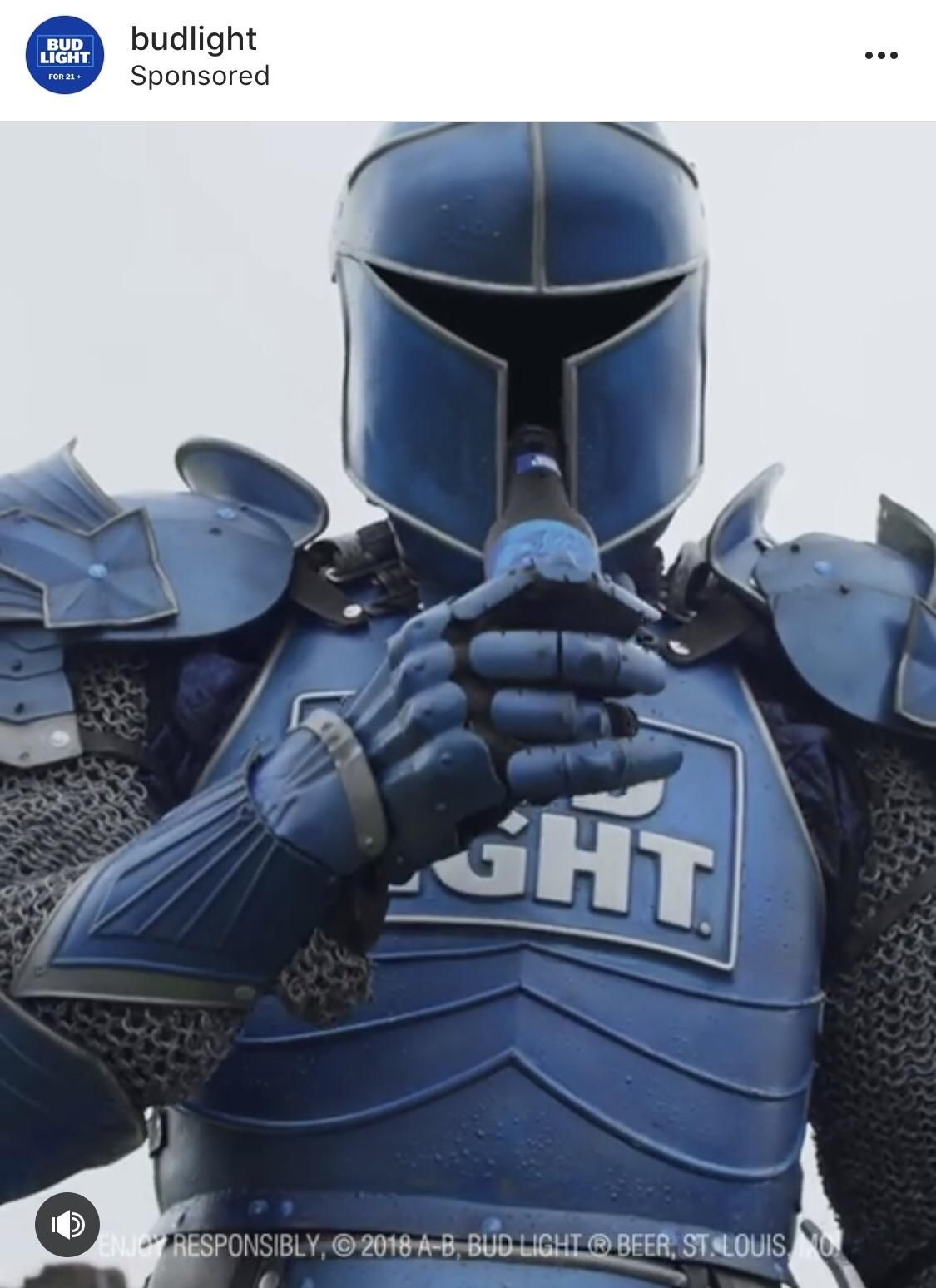 I Just Saw An Ad For Bud Light On Instagram And The Subject In It Looks Like Shovel Knight Knight Halloween Costume Knight Halloween Top Halloween Costumes