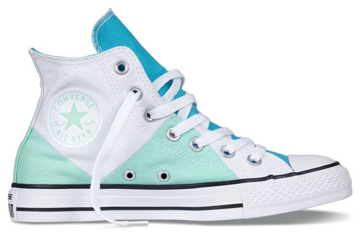 919fb6ba63ec00 Converse Multi Pancel Summer Ice Cream White Mint Green Chuck Taylor All  Star High Tops Canvas Women Shoes