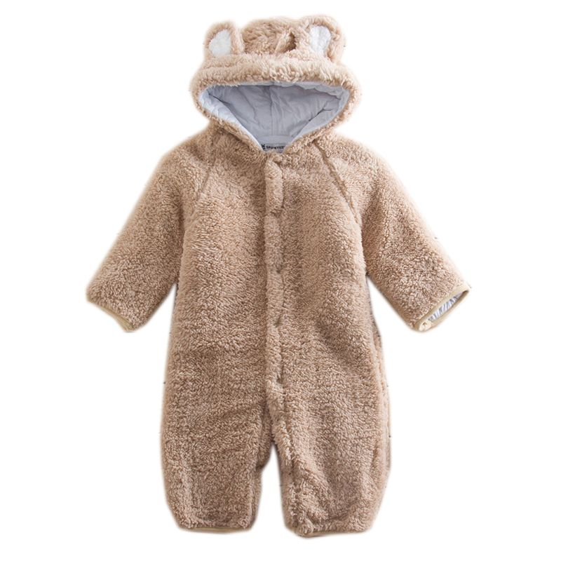726339e49 Autumn Winter Warm Baby Romper Plush Animal Style Baby Jumpsuits Long  Sleeve Newborn Baby Boys Girls