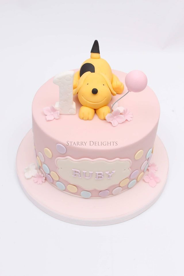 Prime First Birthday Cake With A Dog With Images Baby Birthday Cakes Personalised Birthday Cards Veneteletsinfo