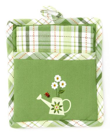 Take A Look At This Green Garden Pot Holder Dish Towel By Design Imports On Zulily Today Design Imports Dish Towels Discount Home Decor