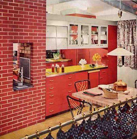 Vintage St Charles Kitchen Cabinets In Terra Cotta For Sale On The Forum Home Decor Sites Retro Kitchen Vintage Kitchen