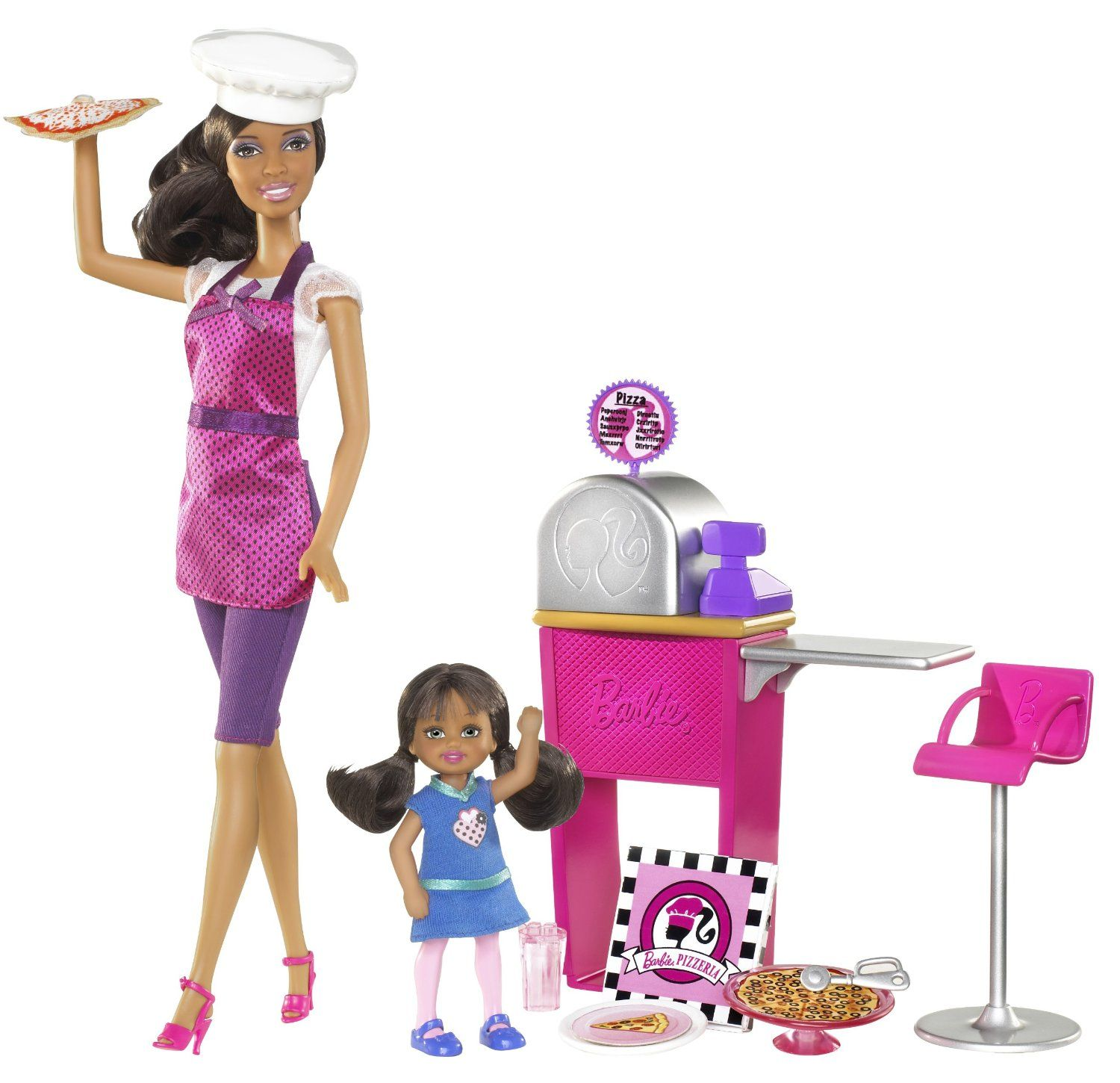 AmazonSmile: Barbie I Can Be… Pizza Chef African-American Doll and Playset: Toys & Games