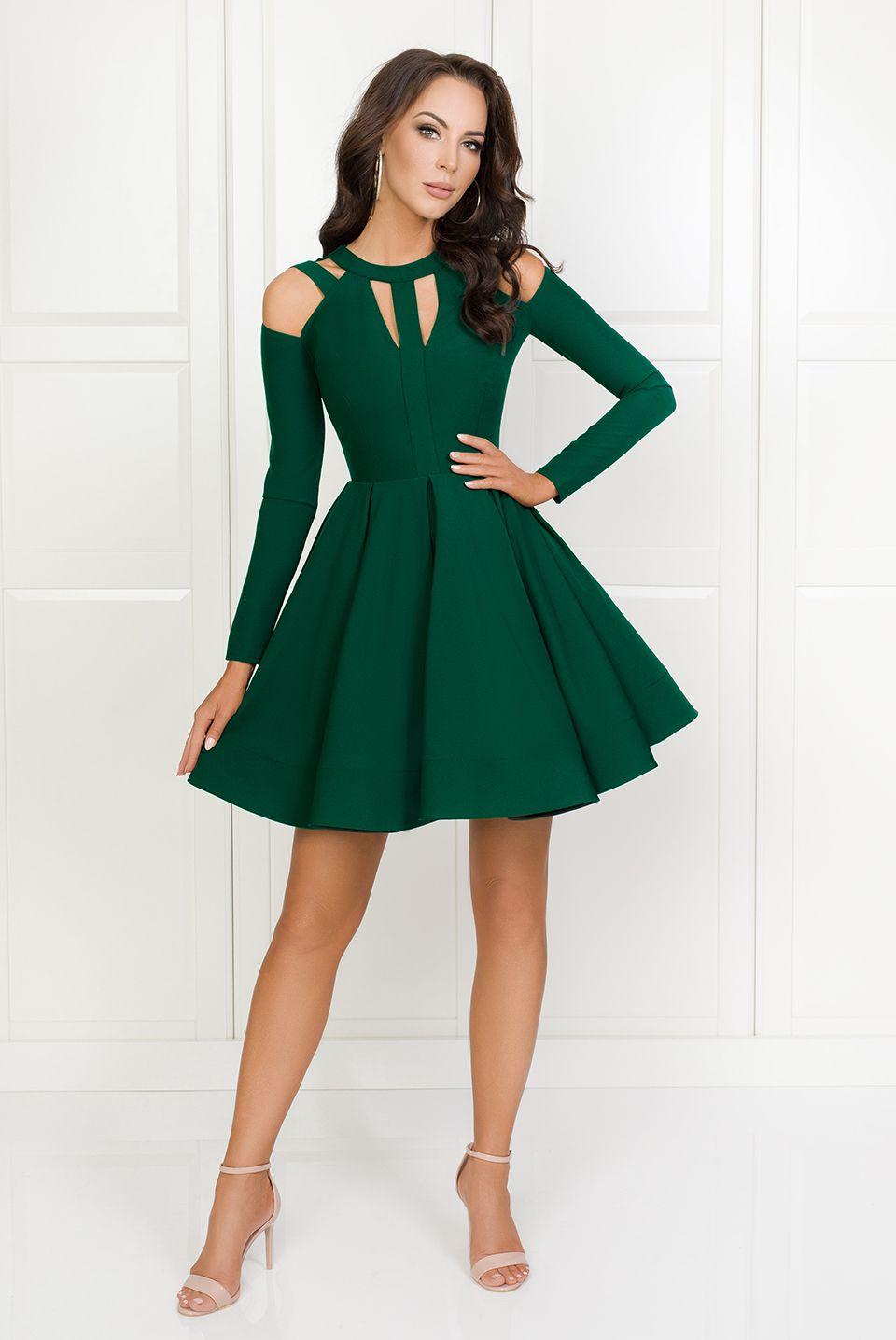 Zaira Butelkowa Zielen Fashion Dresses Halter Top Prom Dresses Short Dresses