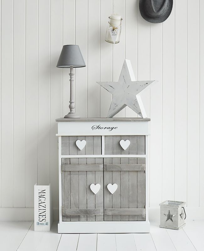 Grey and white hall shabby chic storage furniture. Grey and white hall furniture  Heart Cottage Heart hallway