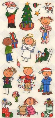 Christmas Kids Stickers - Scrapbook Elegance