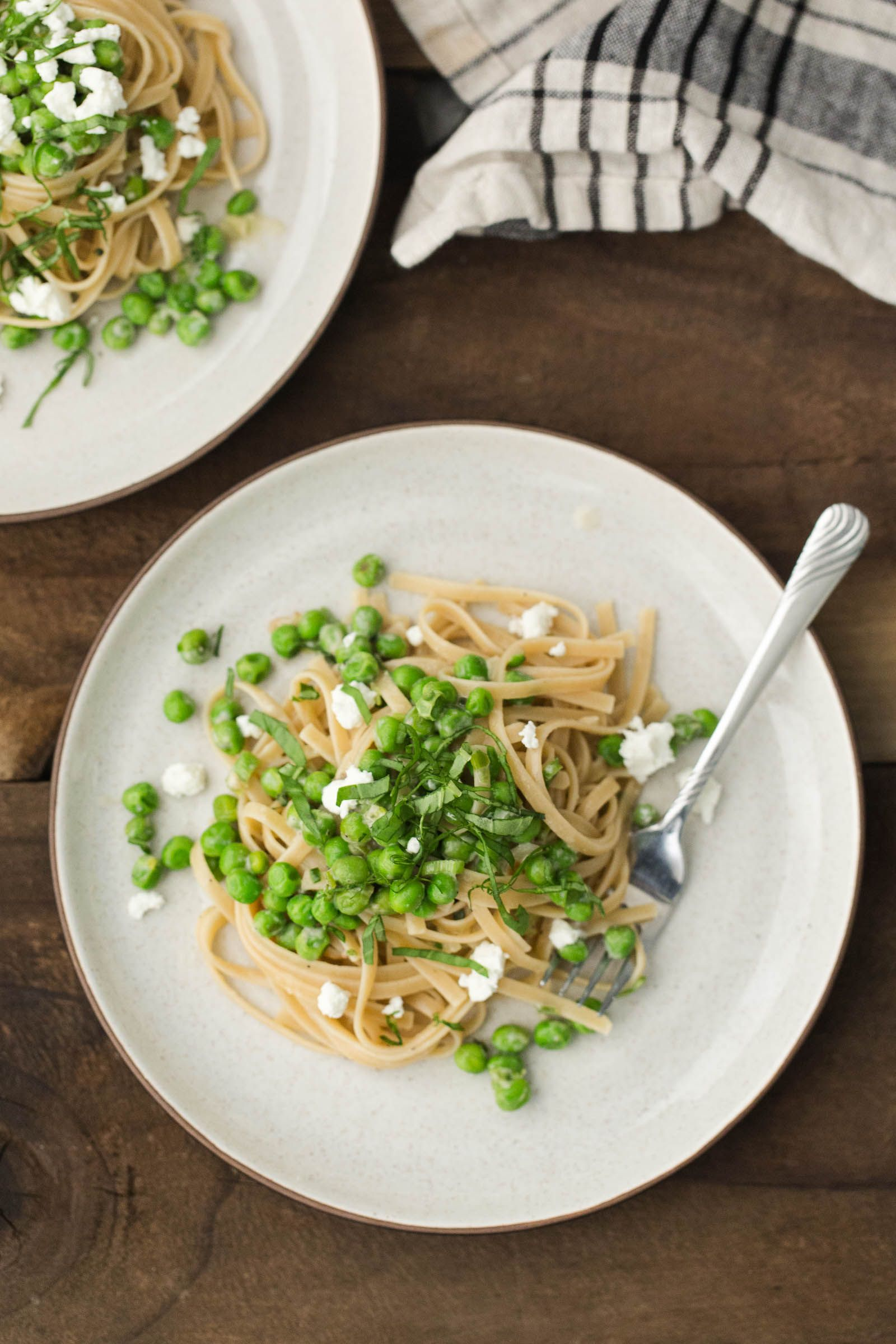 Pea Pasta With Goat Cheese Sauce Naturally Recipe Goat Cheese Pasta Super Healthy Recipes Healthy Recipes