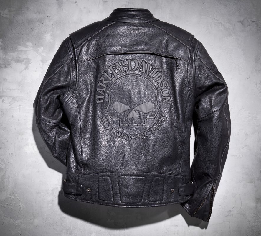 HarleyDavidson® Men's Reflective Skull Leather Jacket