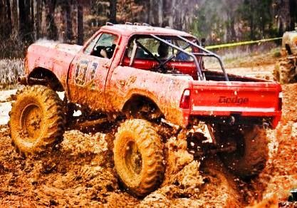 Beautiful Orange General Lee Dodge Mud Truck 3 Trucks Big