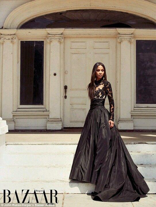 Zoe Saldana in Dolce   Gabbana for Harper s Bazaar Arabia  d42cc98ad8