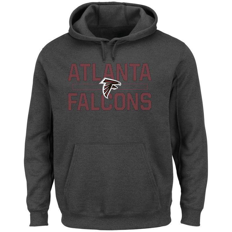 a6f59d7ec Atlanta Falcons Majestic Big   Tall Kick Return Pullover Hoodie - Charcoal