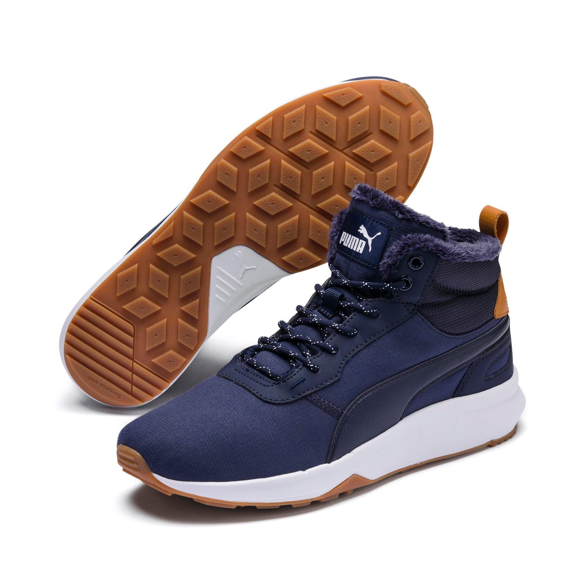 Puma Activate Mid Cut Peacoat Boots Grosse 9 Activate Boots Peacoat In 2020 Schuhe Fur Den Winter Gefutterte Stiefel Kinder Schuhe