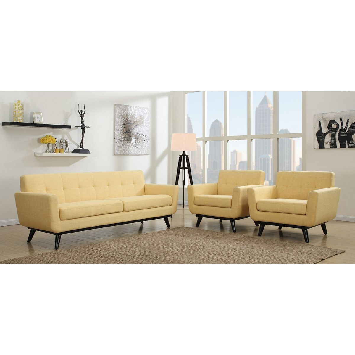 TOV Furniture James Mustard Yellow Linen Sofa TOV-S20S-Y | TOV ...
