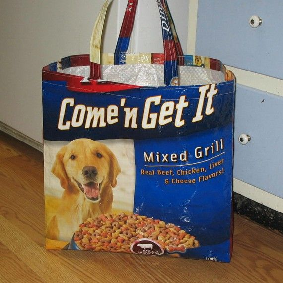 Upcycled Reusable Market Grocery Tote Bag For Dog Lovers Tote