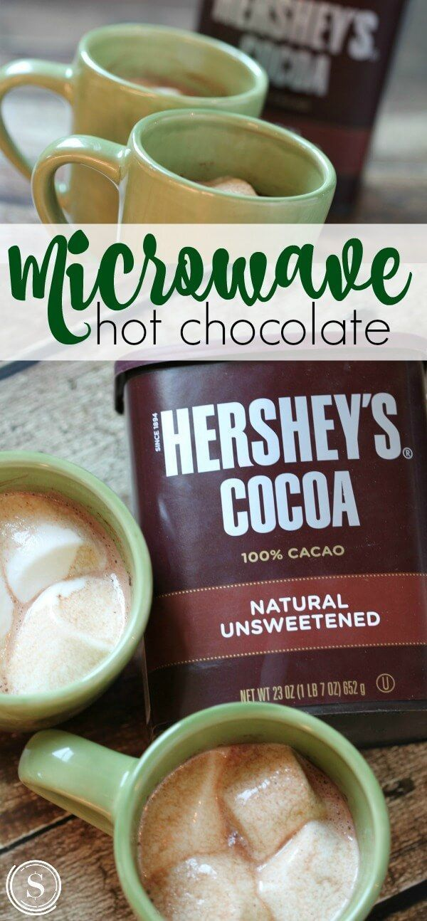 Microwave Hot Chocolate Recipe for a quick and easy Hot Drink Recipe! #hotchocolaterecipe