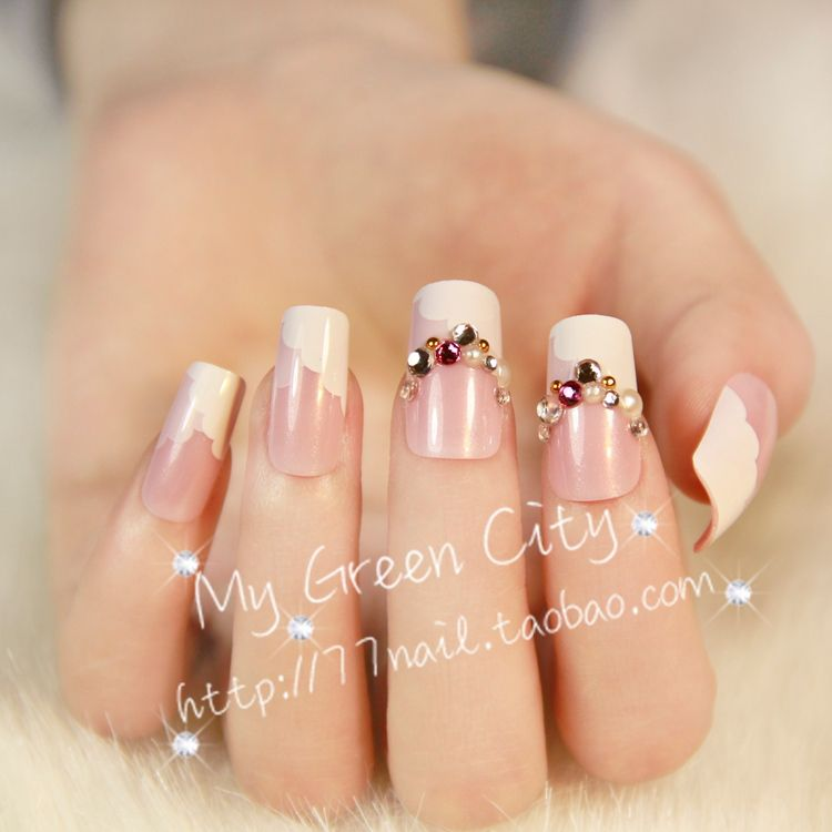Aliexpress.com : Buy High quality french manicure false nail,natural ...