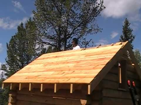 Log Cabin Build...Rough Sawn Roof Planking   YouTube