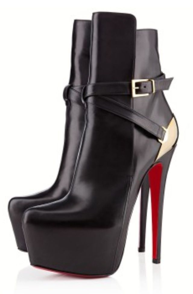 406f69c5c5b Christian Louboutin black ankle boots 2013...Rockin the ankle boot this  season...no trashy country wannabe boots.