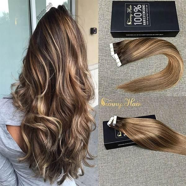 Tape In Balayge Human Hair Extensions 4274 Sunny Hair Tape In