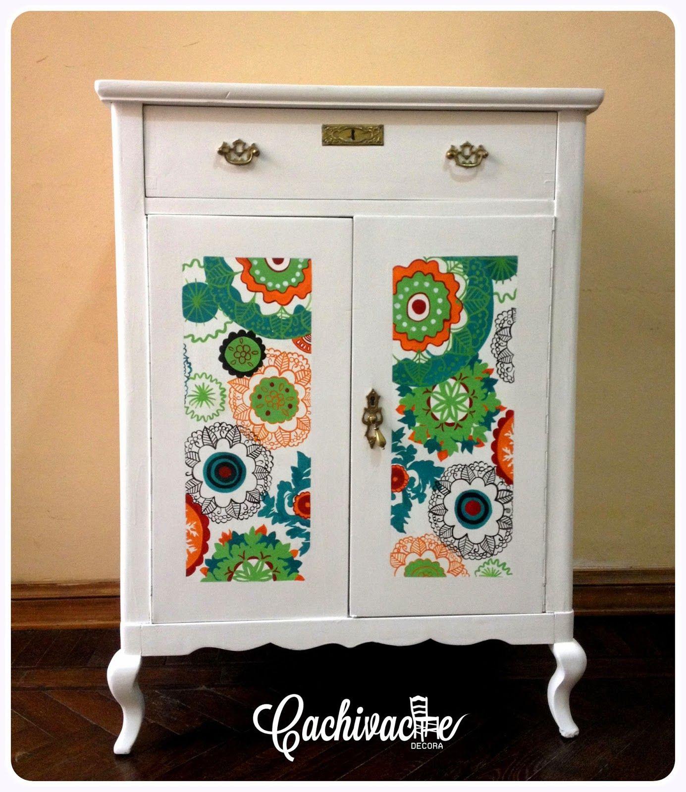 Aparador pintado a mano para luciana restauracion - Muebles de madera pintados a mano ...