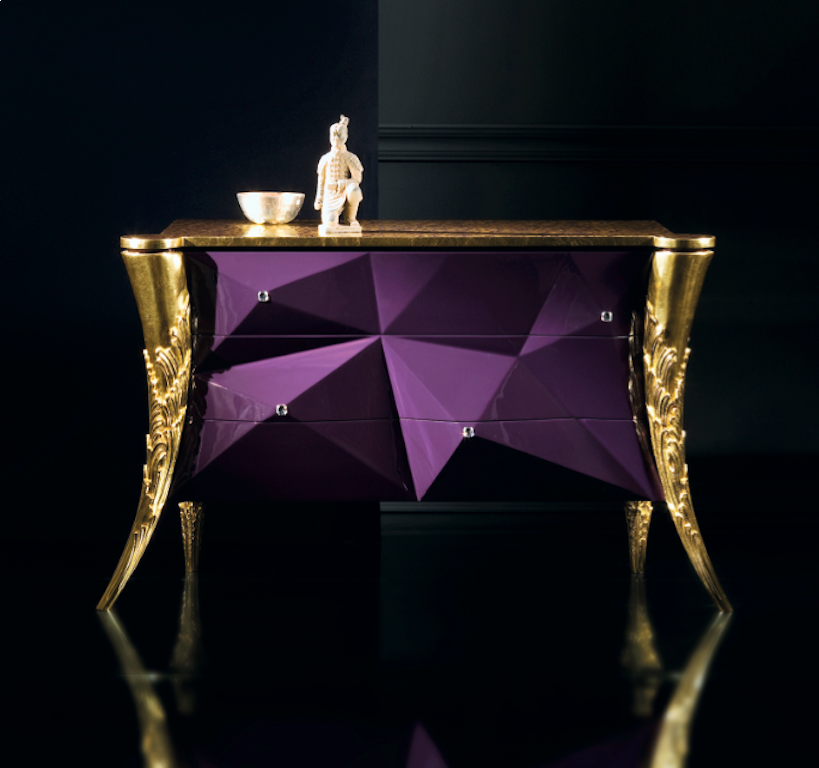 High In Design Butterfly Swarovski Chest of Drawers