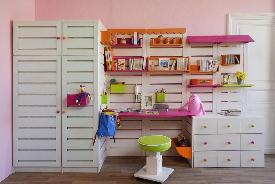 Chambre adolescent Ludolit   Idée coin devoir   Pinterest   Chambres ...