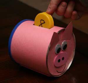 Piggy bank numbers craft crafts pinterest number for Piggy bank craft