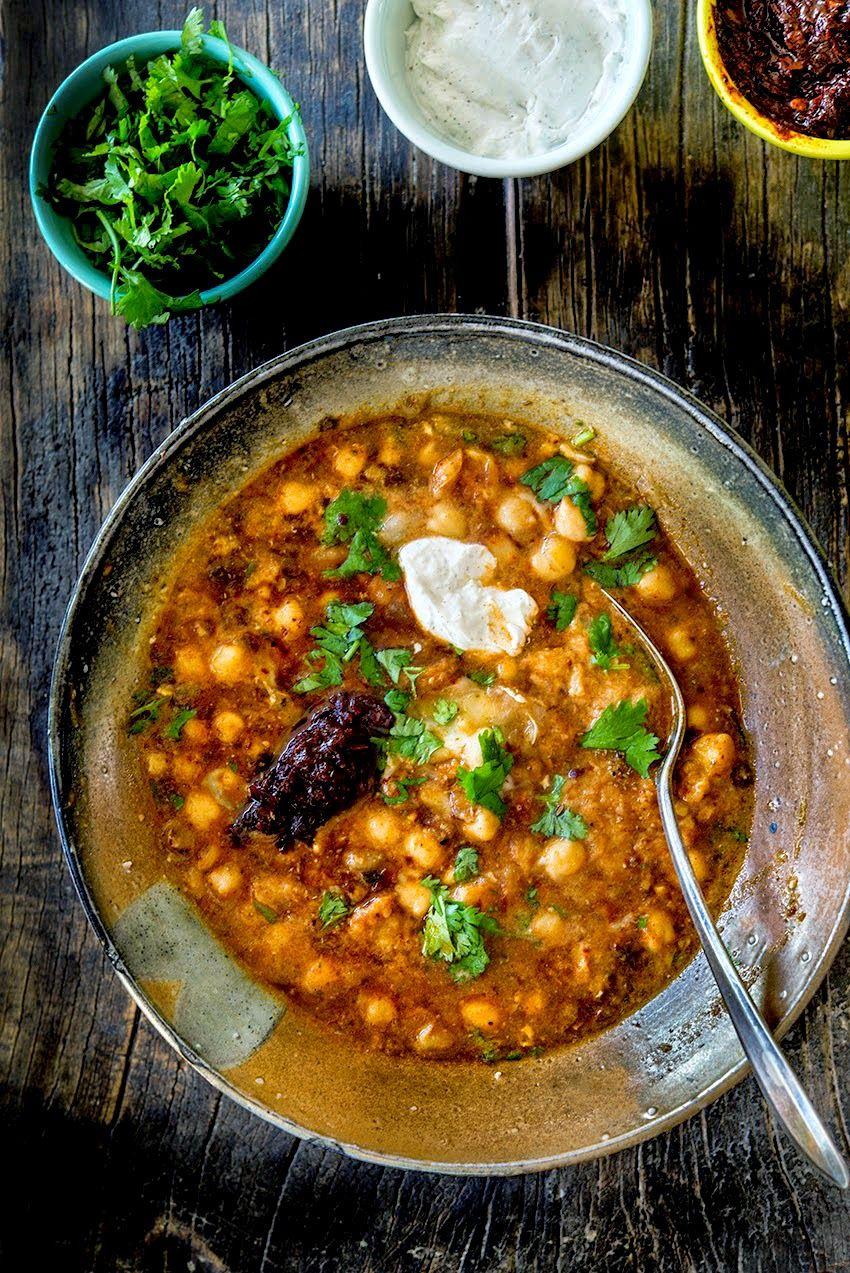 Lablabi Tunisian Inspired Chickpea Stew Wild Greens Sardines
