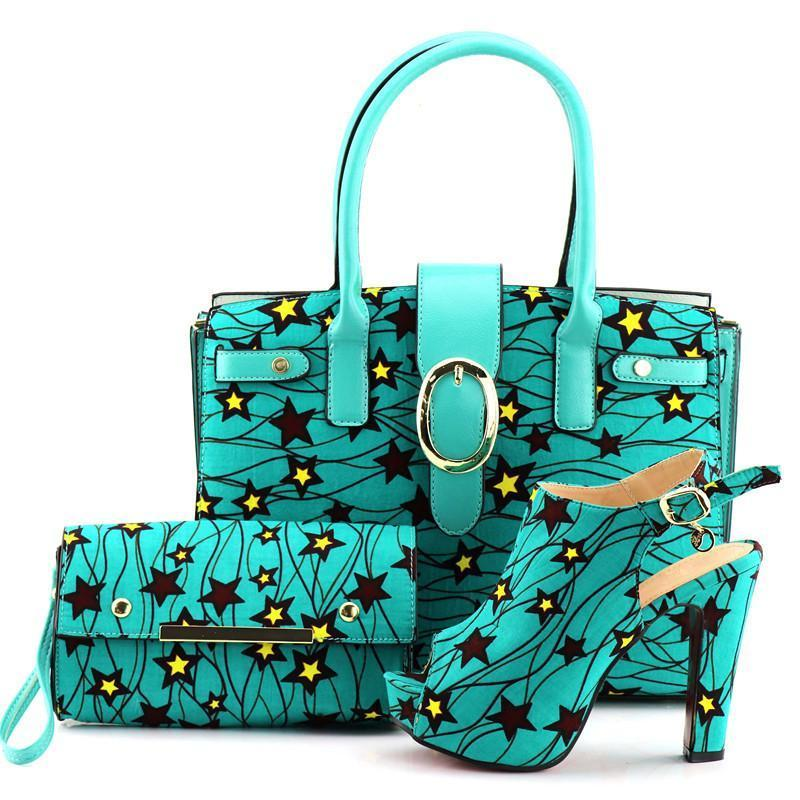 Women Matching African Ankara Print Shoe And Bag Set Italian Shoe Owame Shoe And Bag Shoe And Bag Set Bags