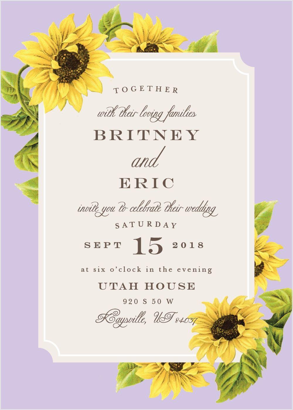 Wedding Po Frame | Sunflower Frame Wedding Invitations In 2018 Future Wedding
