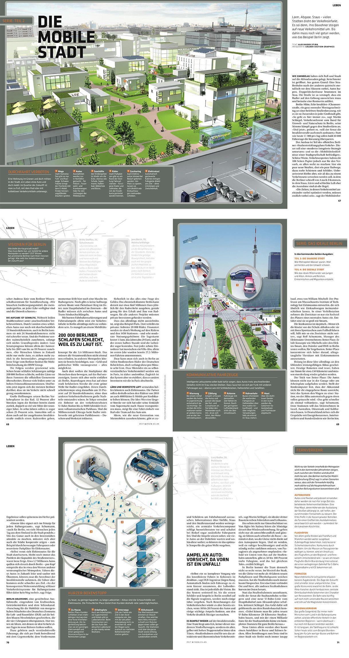 0235 Zeit Wissen Magazine Mobile City Infographics Infographie