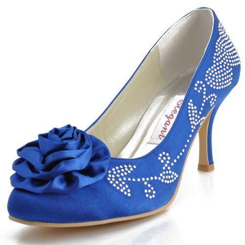 EP2007 Blue Women Round Toe Pump Stiletto High Heel Flowers leaf Rhinestones Satin Wedding Shoes US 11 Elegantpark,http://www.amazon.com/dp/B00HSF8N1S/ref=cm_sw_r_pi_dp_QOW2sb1QS0M3YNHJ