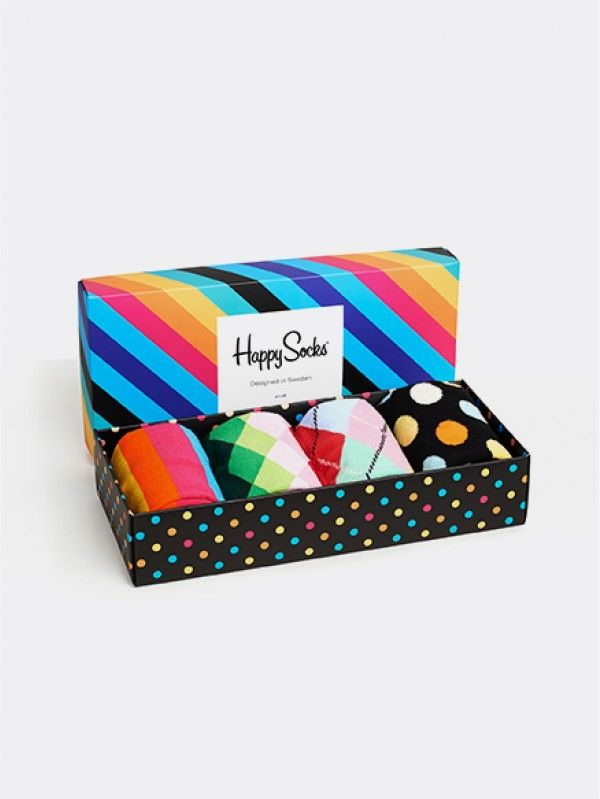 Happy Socks Mix Gift Box Calcetines para Mujer Pack de 4