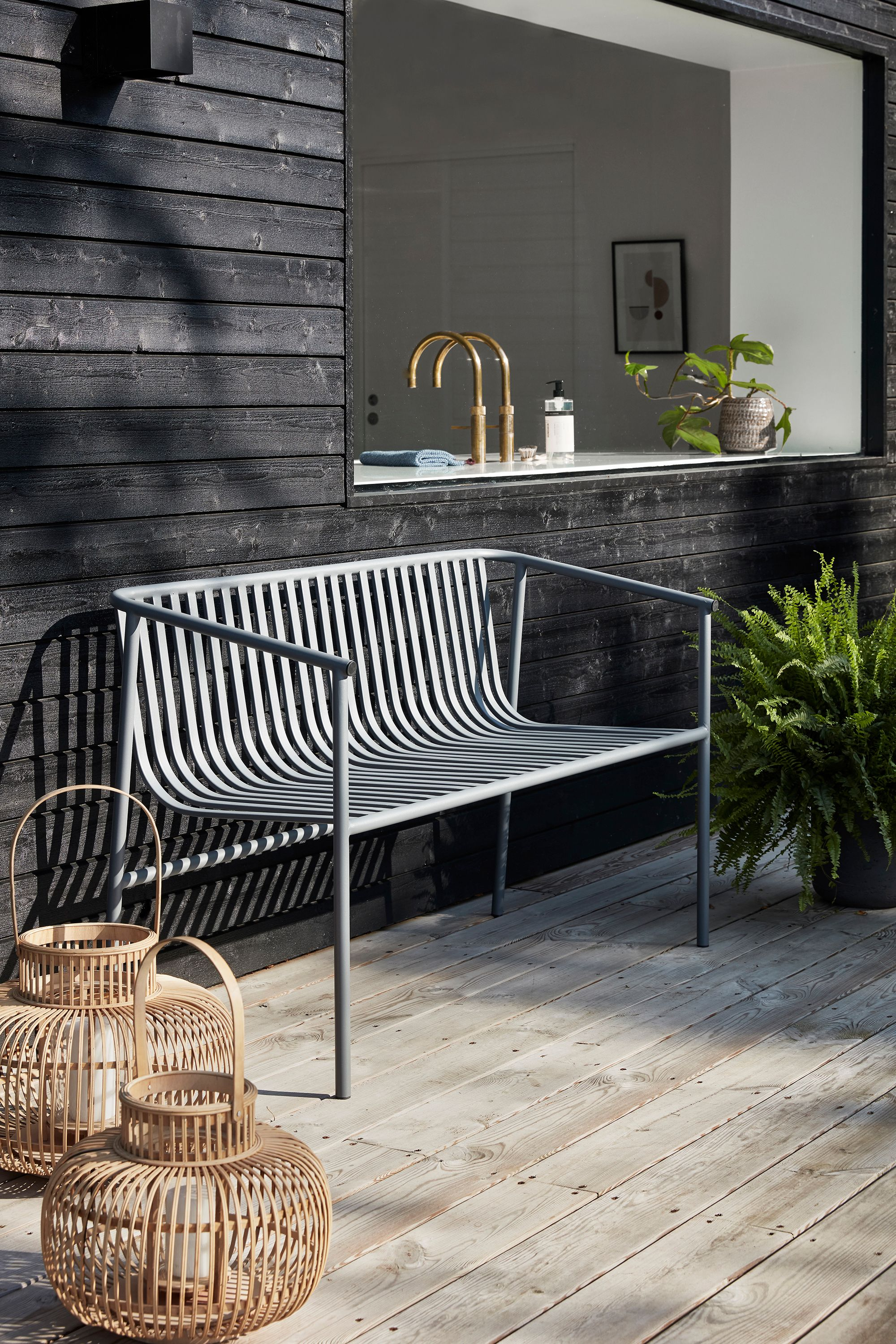 Imagine Sitting Out Here In The Sun On This Modern Bench With Some