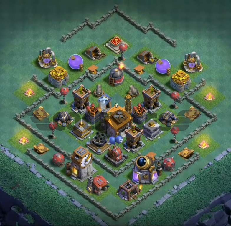 12 Best Builder Hall 6 Base Links Anti 1 Stars 4000 Clash Of Clans App Clash Of Clans Builder