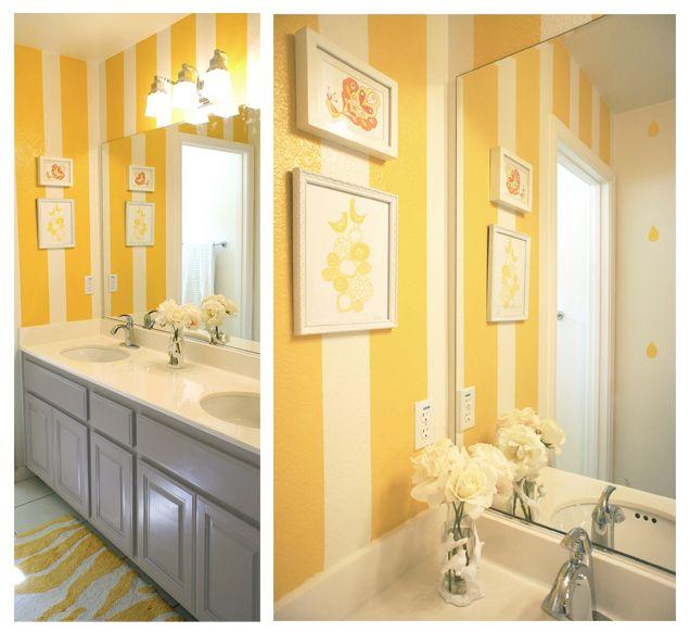 Swanky Swell Modernizing Mila S Bathroom Yellow Bathroom Walls Yellow Bathrooms Yellow Kids Rooms