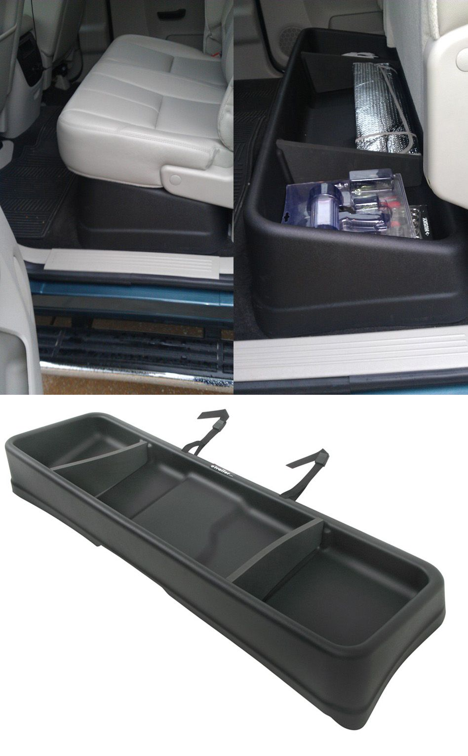small resolution of large capacity cargo box compatible with the gmc sierra and fits perfectly beneath the rear seats of the truck minimizes cargo shifting store tools